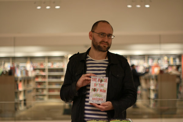 Peter Krištúfek with his novel