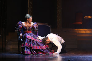 Dramatic scenes are abundant in the Eugene Onegin in State Opera Banská Bystrica