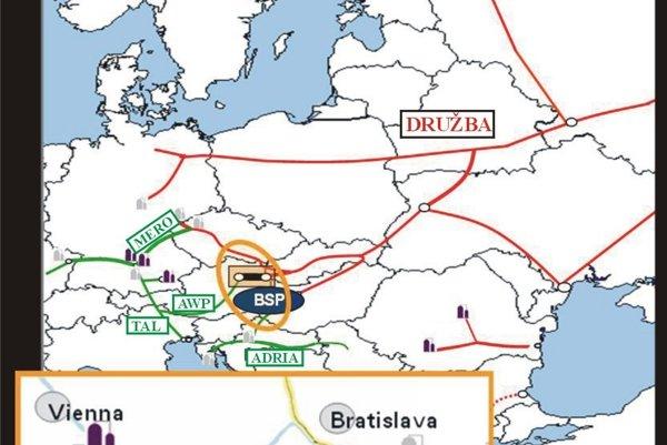 The new Bratislava-Schwechat pipeline should connect Austria's OMV refinery and the Druzhba pipeline.