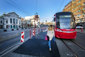 A new bus stop has also been added in the city centre.