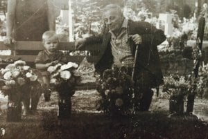 Great-grandfather often used to take me to the Lučenec cemetery.