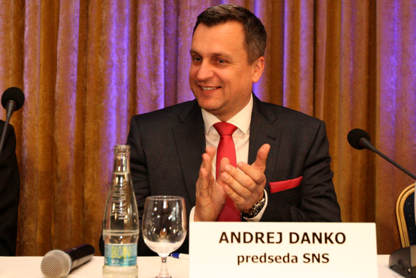 Andrej Danko, head of the Slovak National Party (SNS) at the party congress in Sliač.