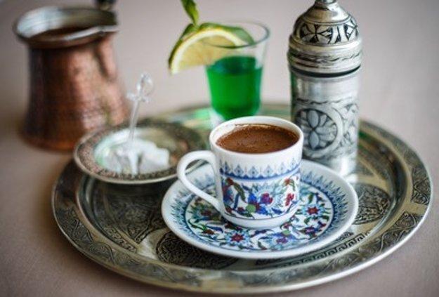 Coffee tasting, illustrative stock photo.