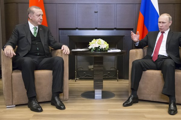 Turkish President Recep Tayyip Erdogan met his Russian counterpart on May 3.
