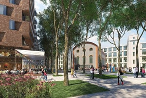 The new square as designed by Cmpass Architekti