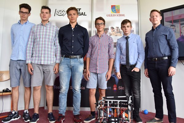 The Slovak team with their robot.