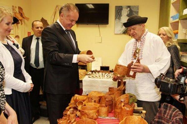 President Kiska met craftsmen in ÚĽUV