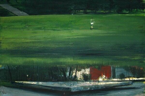 Radislav Matuštík Scholarship: Juraj Toman, A Walk in Park, oil on canvas, 160 x 200 cm, 2013