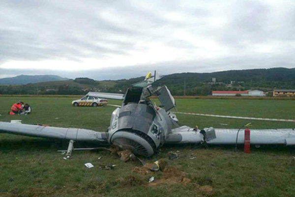 The plane crashed at Prievidza airport Open Day, September 16.