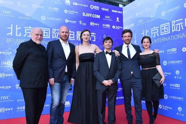 Children's team (Director Jaro Vojtek third form right) in Beijing