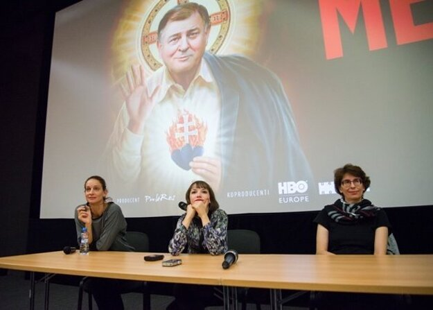 L-R: Producer Ľubica Orechovská, director Tereza Nvotová and producer Zuzana Mistríková at a