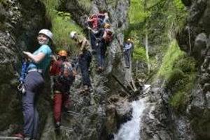 Kyseľ gorge in Slovenský Raj