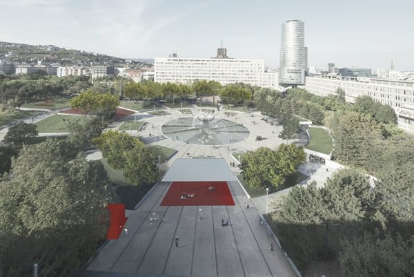 The winning project for revitalisation of Námestie Slobody square
