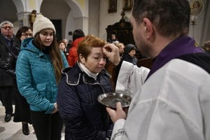 Ash Wednesday in St Stephan's Church, Piešťany