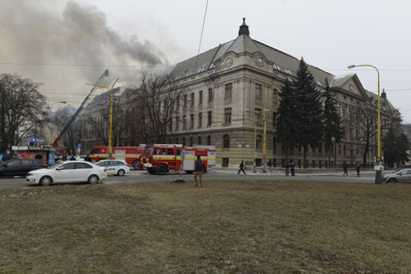 The fire at Financial Administration Košice, February 27, 2018