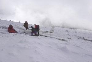 Mountain rescue oepration at Kráľova Hoľa.