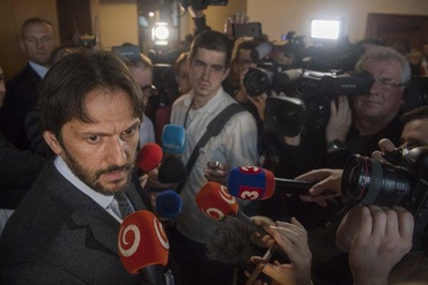 Interior Minister Robert Kaliňák informs media March 6.
