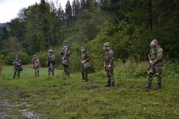 Slovak Levies during training.