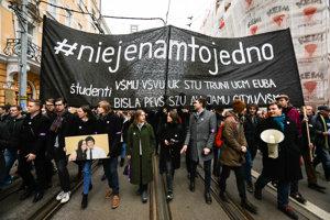 Silent march in Bratislava, March 23