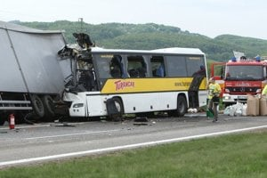 The tragic accident took place near Badín in central Slovakia.