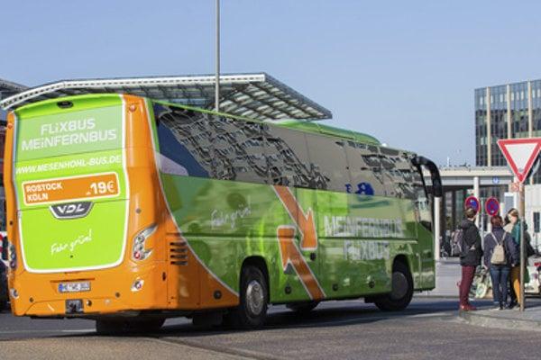 FlixBus in Germany, illustrative stock photo