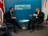 UK Prime Minister David Cameron and Slovak Prime Minister Robert Fico