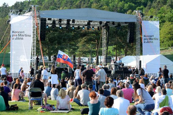 The commemorative concert for Ján Kuciak and Martina Kušnírová, Gregorovce, May 5.