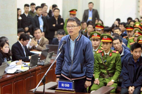 Trinh Xuan Thanh during his trial in Vietnam.