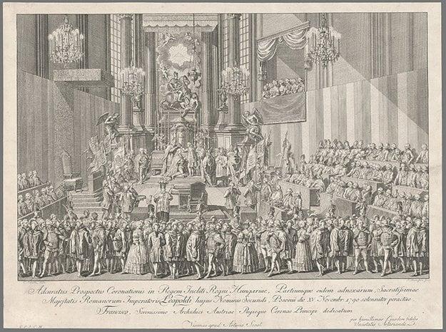 Coronation of Leopold II by Carl Schütz and  Sebastian Mansfeld