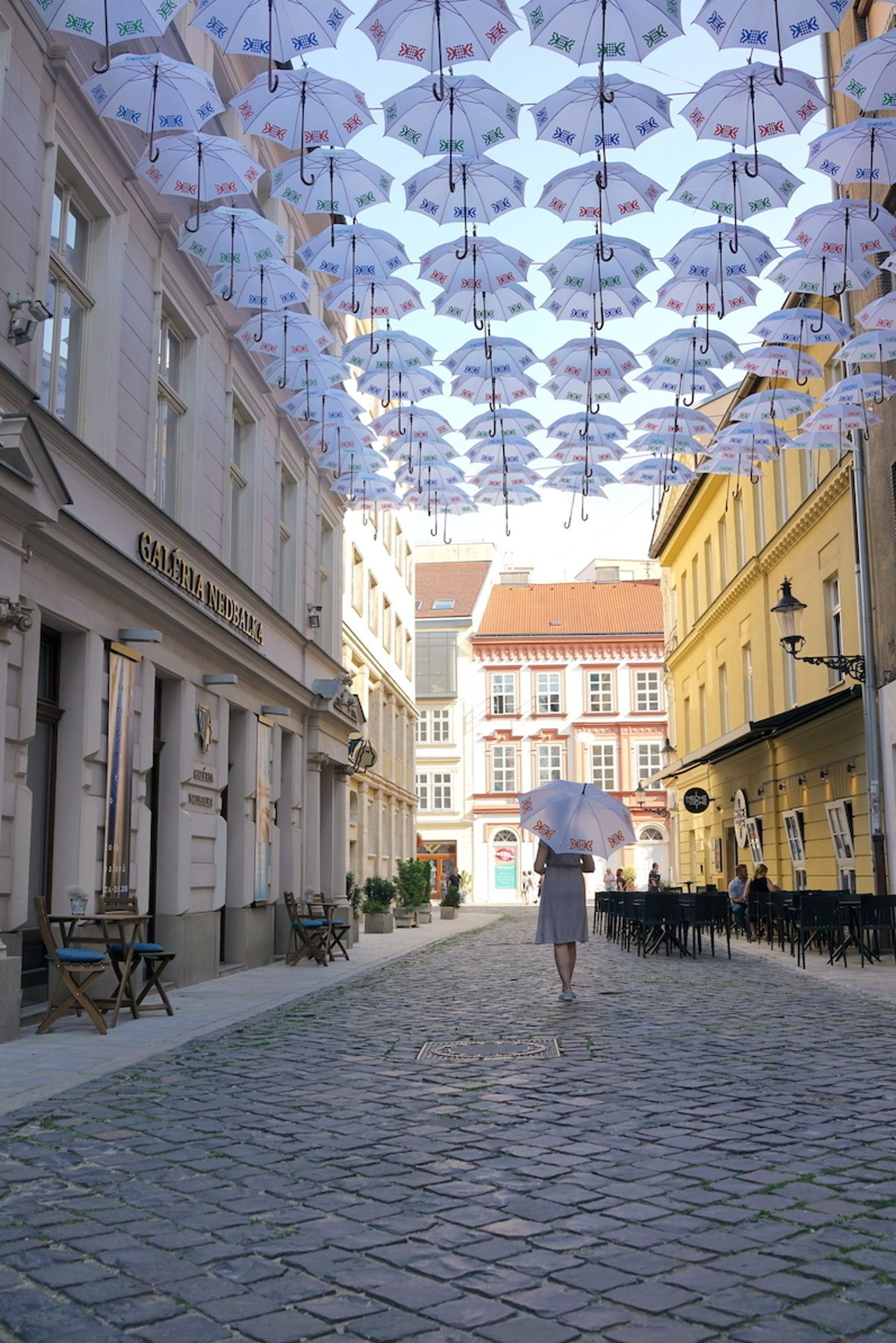 The first Umbrella Street in Bratislava attracts both tourists and ...