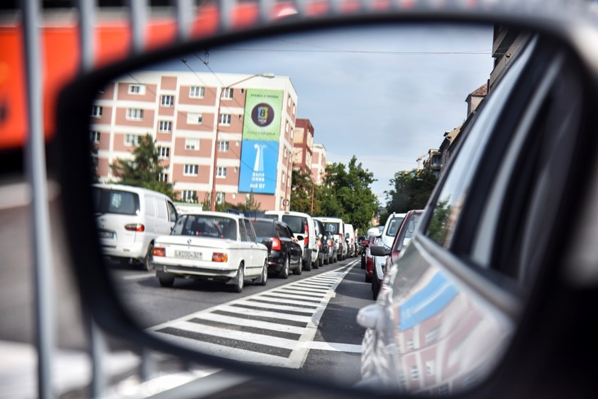 Bratislava experienced traffic jams and tailbacks during the first