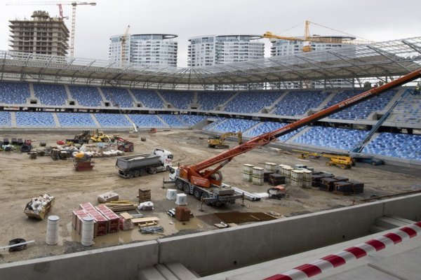 The construction of National Football Stadium in Bratislava, September 4, 2018.