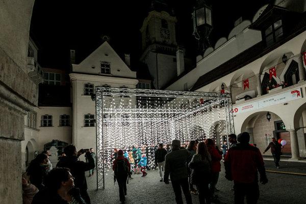 White Night 2018 in Bratislava, Town-hall Courtyard.