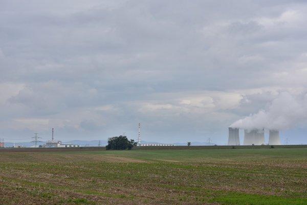 New skyline of the nuclear power station Jaslovské Bohunice