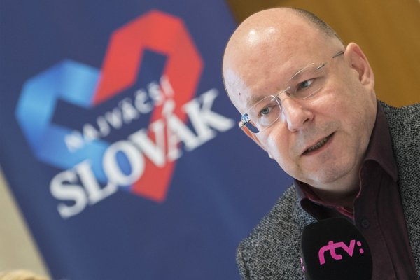 RTVS general director Jaroslav Rezník was present at the press conference to introduce The Greatest Slovak project.