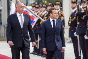 Andrej Kiska and Emmanuel Macron
