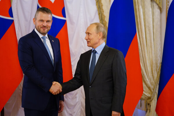 Peter Pellegrini and Vladimir Putin