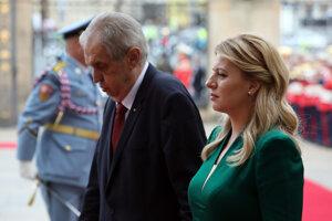 Slovak President Zuzana Čaputová and her Czech counterpart Miloš Zeman