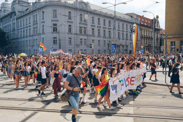 The 2018 Rainbow Pride in Bratislava.