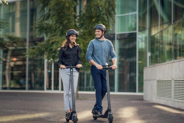 Bratislava residents can use Mint's shared electric kick scooters.