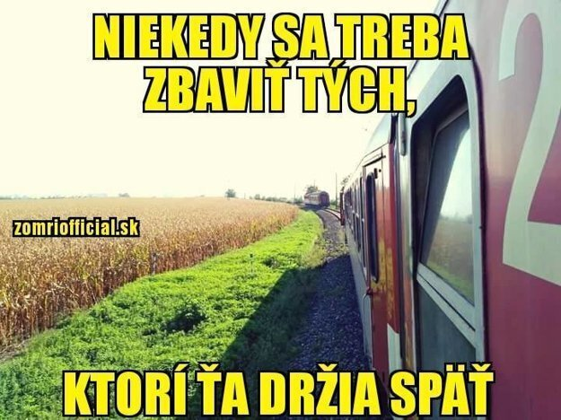 One of many jokes about a detached Slovak train: