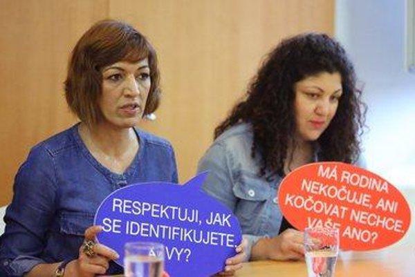 Heads of the festival, Andrea Bučková (L) and Emília Rigová.