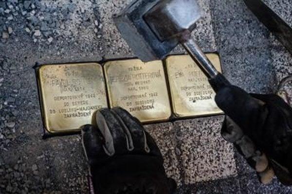 Stolpersteine put in plac ein Bratislava