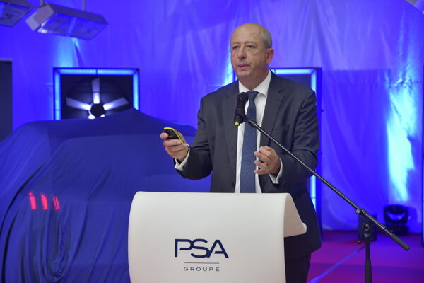 The global boss of the Peugeot brand, Jean–Philippe Imparato in Trnava.