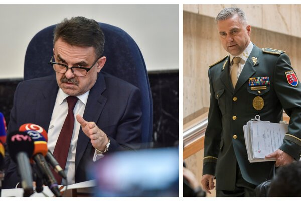 General Prosecutor Jaromíž Čižnár (left) is said to have been screened by the police between 2017 and 2018. The police corps were then headed by Tibor Gašpar (right)