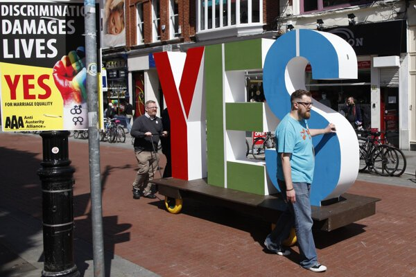 The 2015 Yes Equality campaign in the streets of Dublin.