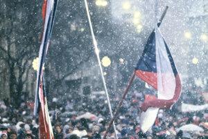 December 9, 1989 in Bratislava.  Emigrants like the secretary general of the World Congress of Slovaks, Dušan Tóth, Czech singer Karel Kryl and mime Milan Sládek attended.