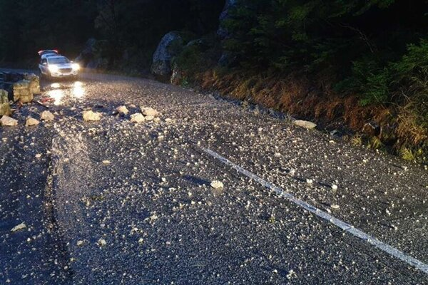 Rocks fell in Terchová in the Žilina Region for the first time three weeks ago