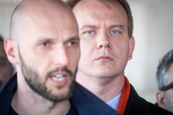 Michal Truban and Miroslav Beblavý of PS/Spolu