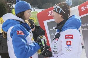 Petra Vlhová with her coach, Livio Magoni